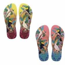 Havaianas SLIM TROPICAL Ladies Womens Summer Rubber Toe Post Flip Flops Sandals