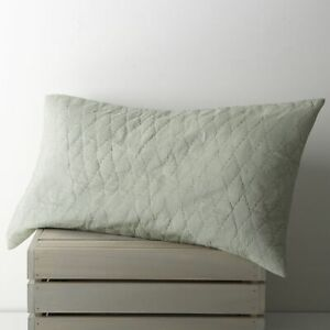 Crate & and Barrel SEA GREEN KING PILLOW Sham x 1-  NWOT- NEW
