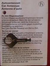 Hirschmann Antenna Aerial Key for AM FM Radio w/ Telescopic Mercedes VW BMW Audi