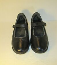 Z-COIL Women's Mary Jane Orthopedic Black Leather Comfort Shoes-Sz-10