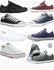 cc240caf459be5 Converse Chuck Taylor Low Top Leather Mens Casual Shoes