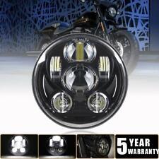 """DOT 5-3/4 in 5.75"""" Round LED Headlight Black for Yamaha V-Star XVS 650 950 1100"""