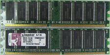 2GB 2x1GB DDR 400 MHz PC3200 Non-ECC Desktop DIMM Memory RAM 184pin KVR400X64C3A