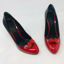 Louis Vuitton 38 Red Patent Leather Gossip Pumps 837-35-1920