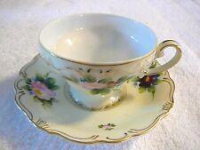 DAINTY M/K Floral Cup & Saucer, Porcelain, Hand-Painted, Japan, Excellent Item