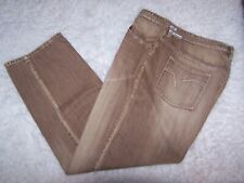 Indigo Red Mens Industrial Denim Brown/Beige Jeans 44 on Tag 45X31 1/2 Actual