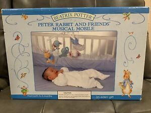 Vintage Beatrix Potter PETER RABBIT and Friends Musical Crib Mobile With Box