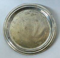Vintage International Silver Plate Serving Tray Round 11 Inches