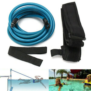 Swimming Training Rope Resistance Bungee Exerciser Leash Safety Belt Swim Pool