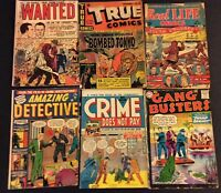 Crime does not pay Amazing Detective Wanted Atlas Golden Age Comic Book lot DC +