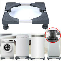 Adjustable Movable Base Bracket Stand Wheels for Washing Machine Fridge Carriage