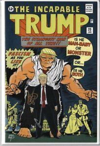 Incapable Trump #1 Comic book NYCC Exclusive 1/200 RARE NM+ Signed