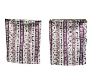 Pillow Cases matching pair purple white abstract quilted shams Spirit Linens