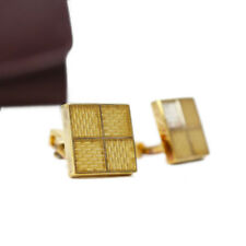 Louis Vuitton Cufflinks Gold Tone Gift Authentic Free Shipping