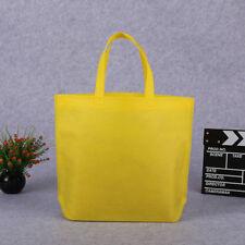 Simple Solid Color Large Shopping Bag Handbag Reusable Tote Bag Storage Nonwoven