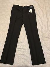 "G2000 Men's Dress Pants, 31"" Waist Regular Fit, black, 100% polyester"