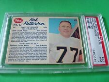 1962 Post Cereal CFL  #62 HAL PATTERSON psa 7 Hamilton TIGER-CATS (348)HC