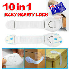 10x Kids Child Baby Pet Proof Door Fridge Cupboard Cabinet Drawer Safety Lock