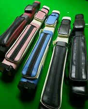 pool snooker square cue case accessories for 2 x 2 piece cue 5 colour choice NEW
