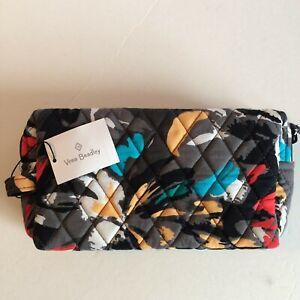 Vera Bradley **SPLASH FLORAL** Medium Cosmetic Travel Makeup Bag NWT