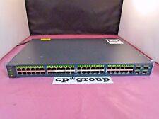 Cisco WS-C3560V2-48PS-S 48-Port PoE 10/100 + 4 Gigabit SFP Port Rackmount Switch