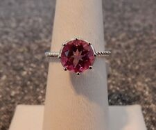 Size 8 Pretty 2.32ct Pink Mystic Topaz Solitaire Genuine Gemstone Ring