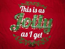 New Womens xl 16-18 Holiday Time This is as jolly as I get ss red Christmas tee