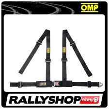 OMP ROAD 4M 4 POINTS BLACK SEATBELT Harness Belts Race Racing Rally DA507071