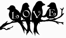 Amor Aves En Rama Ventana Pared Portátil De Vinilo En Las JDM Dormitorio