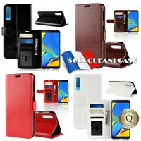 Etui folio housse coque Cuir PU Leather Case pour Samsung Galaxy A7 ou A9 (2018)