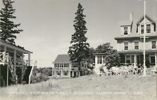 "A View of ""Topside"", High Atop McKown Hill, Boothbay Harbor, Maine ME RPPC"