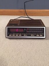 Vintage Ge Alarm Clock Radio Model 7-4616B Two Wake Times Red Led Digits A23