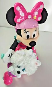 Minnie Mouse Interactive Plush Sing Spin w/Scooter Pal Snowpuff