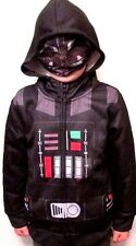 DISNEY Star Wars HOODIE Darth Vader Mesh Mask JACKET Fleece Lined 3 4 5 6 Yrs