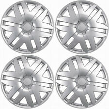 "4 Pc Set of 15"" Inch Silver Hub Caps Full Lug Skin Rim Cover for Oem Steel Wheel (Fits: Chrysler Concorde)"