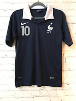 Nike Dri Fit Unisex Navy Blue Solid Benzema 10 France Soccer Jersey Size Small