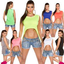 Bauchfreie Kurzarm Damenblusen, - tops & -shirts für die Freizeit