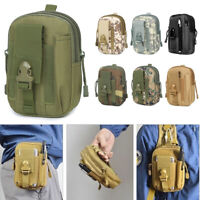 Tactical Waist Belt Bag Molle Military Pouch Fanny Pack Outdoor Hiking Camping