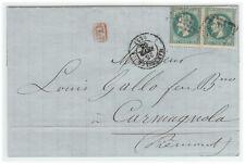 France cover - Napoleon III - 1863 Marseille to Carmagnola (IT) - Fresh