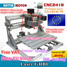 EU Stock 3 Axis DIY Desktop Mini CNC Router Kit 2418 Engraving Milling Machine