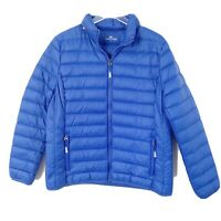 Princess Cruise Lines Down Feather Coat Womens Large Blue