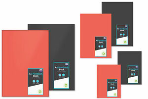 Hardback Notebook Pad Ruled White Paper 64 Sheets School Book A4/A5/A6 Black Red