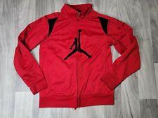 Air Jordan Jacket Full Zip Hooded Red Black Long Sleeve Boys Size L 12-13 Years