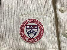 Vintage Mid Century Pennsylvania University Letterman Sweater wool Vniversitatis