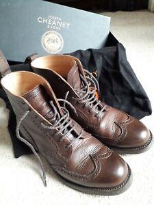 Cheaney Rebecca Ladies Walnut Brogue Boots UK 5.5 EU 38.5