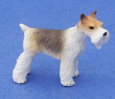 Miniature Dollhouse Fox Terrier Dog 1:12 Scale New