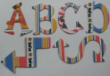 Reminisce *TRAIN TRACKS* Scrapbook Chipboard Letters Alphabet Embellishment