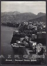 NAPOLI SORRENTO 21 MARINA GRANDE Cartolina FOTOGRAFICA viaggiata 1958
