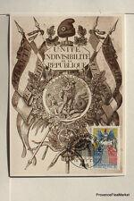 yt 2669  FRANCE  Carte Postale Maximum CREATION DRAPEAU TRICOLORE