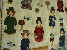 "Paper Dolls Panel - 71/2"" Dolls plus Old Fashioned Dolls"